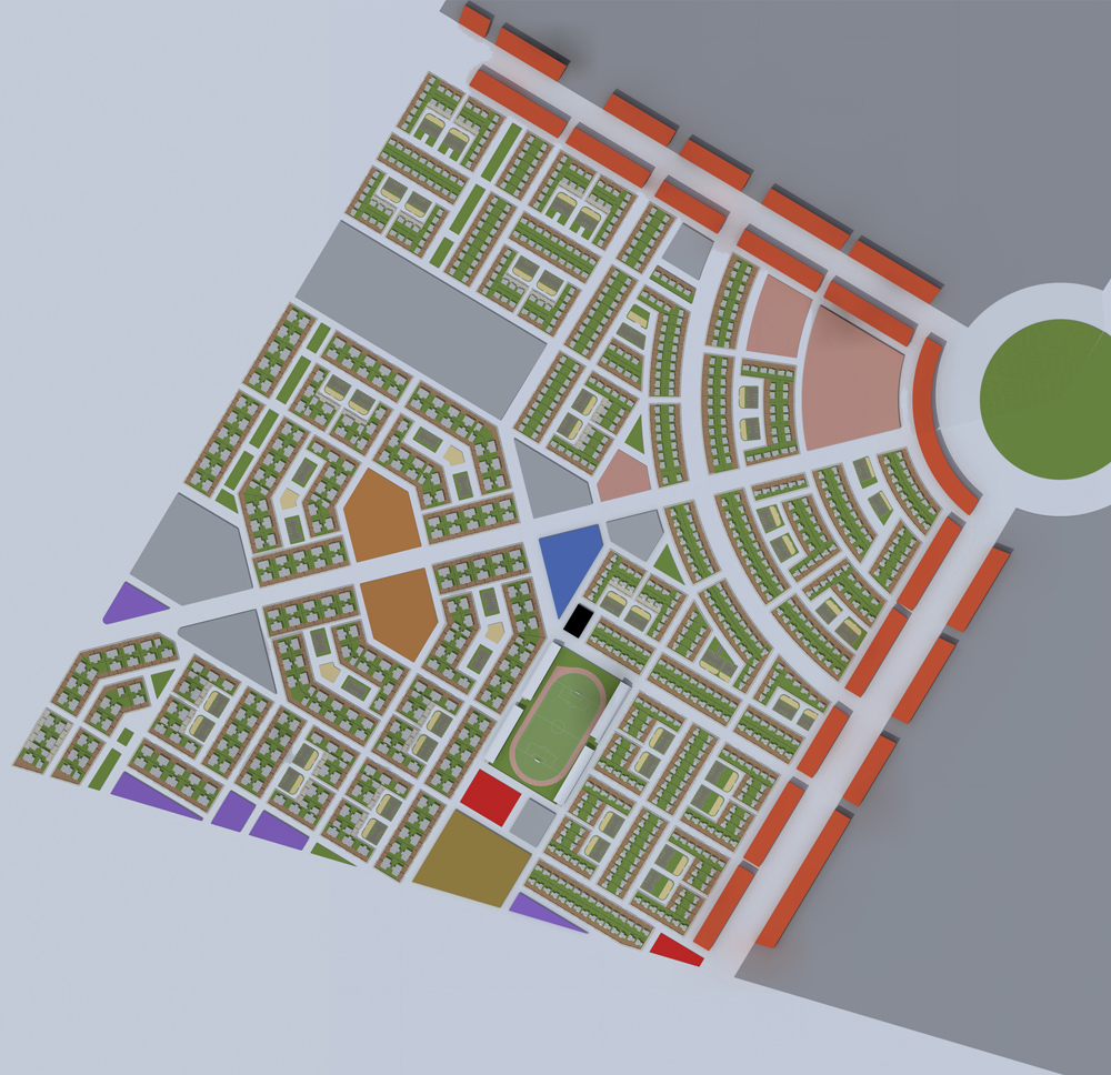 4 plan masse cité 1500 logements